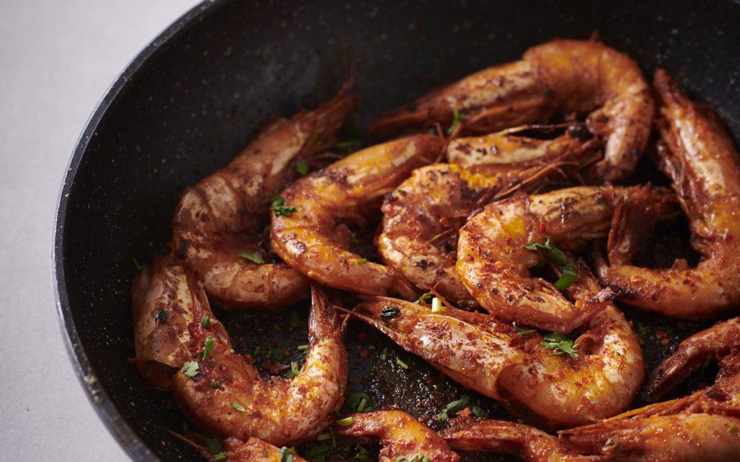 Grilled Prawns with Savoury Rice