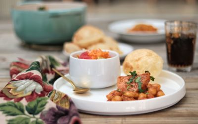 Beans Curry, Pumpkin and Puri